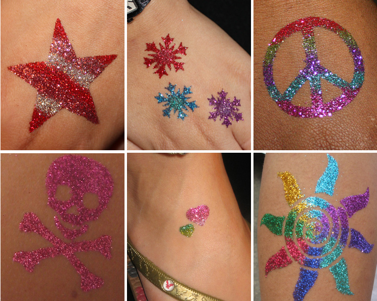 Glitter tattoo fairfield suisun city vacaville napa for Where to get glitter tattoos